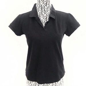 Calvin Klein Jeans classic black polo shirt small